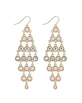 Mood tonal pink chandelier earring