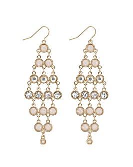 Mood tonal pink chandelier earring
