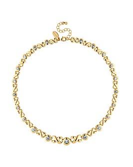 Jon Richard gold crystal cross necklace