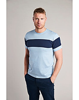 Flintoff By Jacamo Stripe T-Shirt L