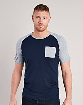 Flintoff By Jacamo Raglan T-Shirt Long
