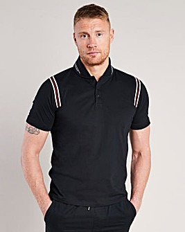 Flintoff By Jacamo Retro Polo Reg