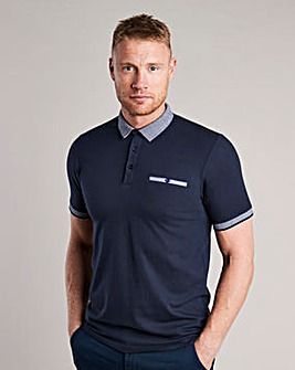 Flintoff By Jacamo Pocket Polo Long