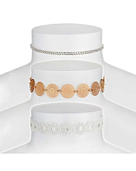 Mood multi tone choker set