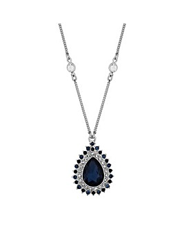 Alan Hannah crystal peardrop necklace