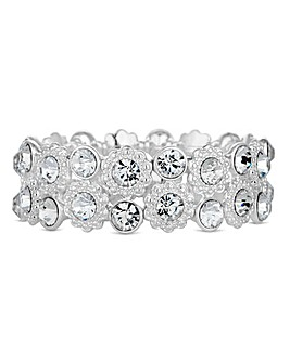 Jon Richard crystal floral bracelet