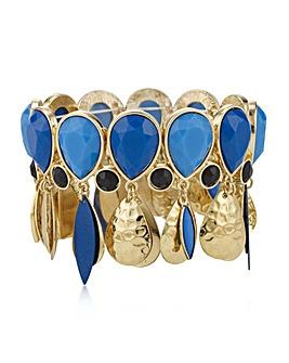 Mood tonal blue peardrop bracelet