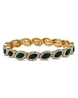 Jon Richard green crystal bracelet