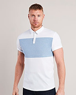 Flintoff By Jacamo Stripe Polo Long