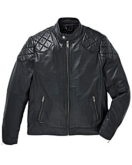 Flintoff by Jacamo Leather Jacket