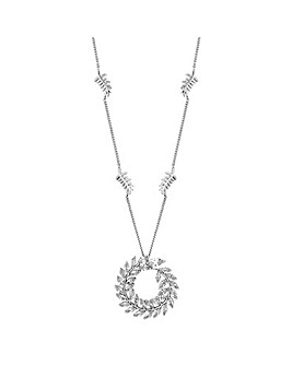 Jon Richard silver wreath necklace