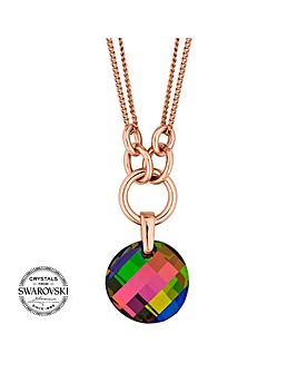 Jon Richard swarovski disc necklace
