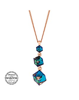 Jon Richard swarovski cube necklace