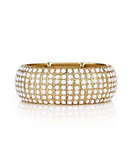 Mood white stone gold bracelet