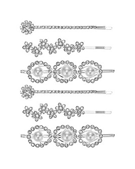 Mood floral hair slide set