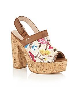 Dolcis Viennese platform heeled sandals