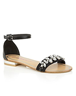 Dolcis Wind peep toe ankle strap sandals