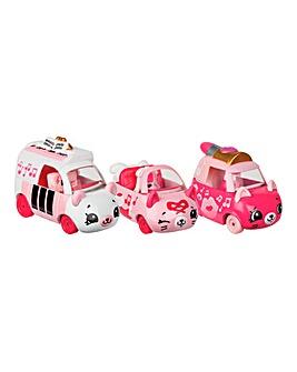Shopkins Cars 3 Pk-Pretty Performers