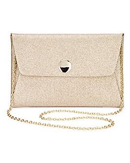 Maddie Gold Clutch Bag