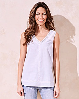 Cut Out V-Neck Top