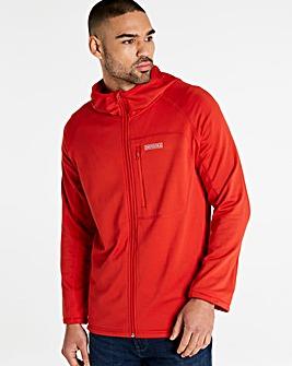Snowdonia Hooded Poly Grid Fleece Jacket