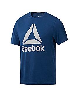Reebok Stacked Logo Tee