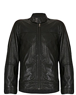 Barneys Originals Leather Harrington