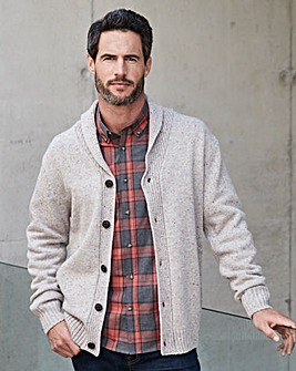 W&B Oatmeal Shawl Collar Cardigan R