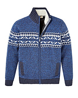 WILLIAMS & BROWN Quilted Zipper Cardigan