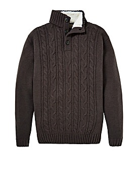 WILLIAMS & BROWN Sherpa Collar Jumper
