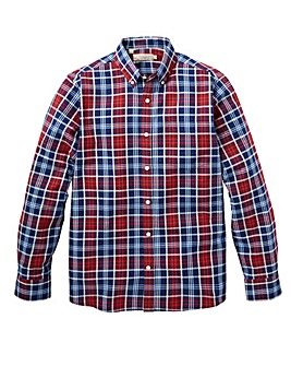 WILLIAMS & BROWN Long Sleeve Check Shirt