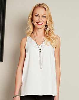 Joanna Hope Satin Trim Vest