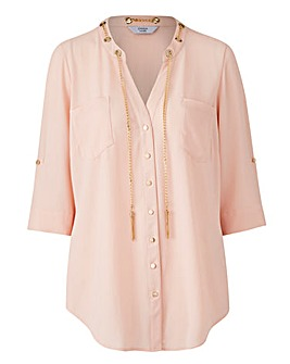 Joanna Hope Chain Detail Grandad Blouse