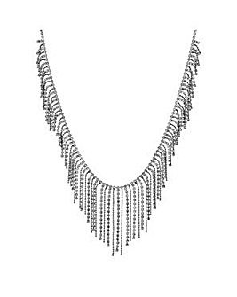 Mood Silver chain choker necklace