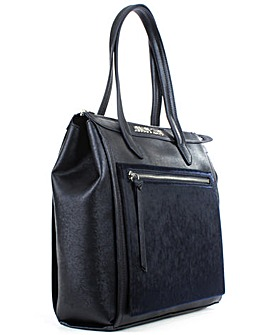 Armani Jeans Navy Top Zip Tote Bag