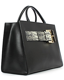 Class Cavalli Black Medium Tote Bag