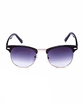 Luna CLUBMASTER Style Black Sunglasses