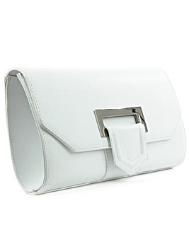 Daniel Summery White Suede Clutch Bag