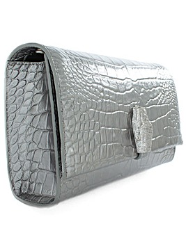 Class Cavalli Pewter Shoulder Bag