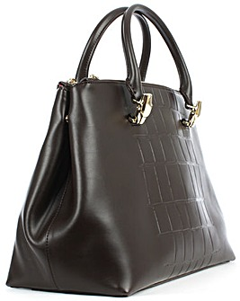 Class Cavalli Brown Reptile Bag