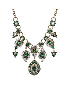 Mood Green ornate collar necklace