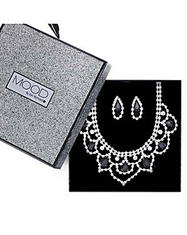 Mood Monochrome loop jewellery set