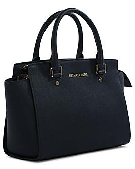Michael Kors Leather Top Zip Satchel Bag