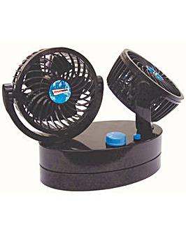 Streetwize Twin Oscillating Power Fan