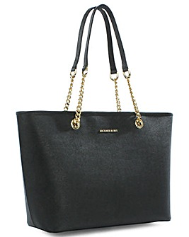 Michael Kors Leather Top Zip Tote Bag