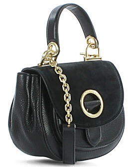 Michael Kors Black  Suede/Leather Bag