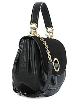 Michael Kors Black  Leather Crossbody
