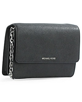 Michael Kors Black Flapover CrossBody