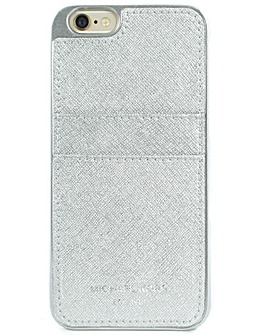 Michael Kors Silver Phone Card Case