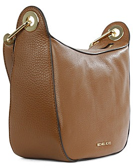 Michael Kors Tan Leather Messenger Bag